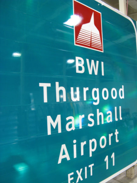 """Just call it """"BWI Thurgood Marshall Airport"""" for short!"""
