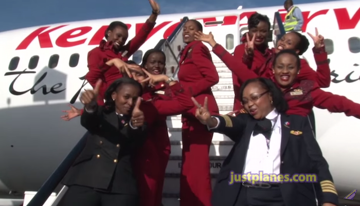 Awesome Video Of All Female Kenya Airways 787 Crew One