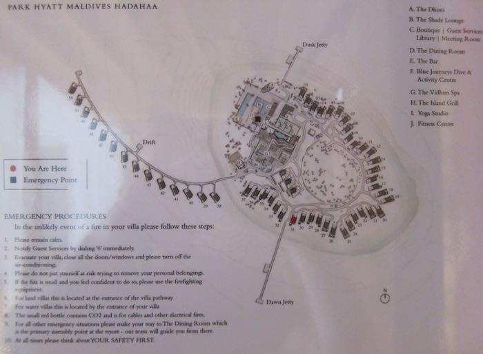 Park Hyatt Maldives Map Review: Park Hyatt Maldives Park Villa | One Mile at a Time