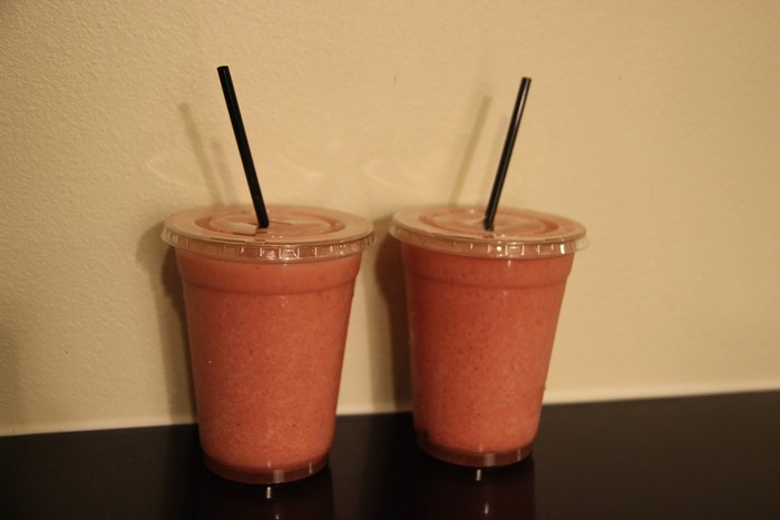 Free smoothies courtesy of our drink chits