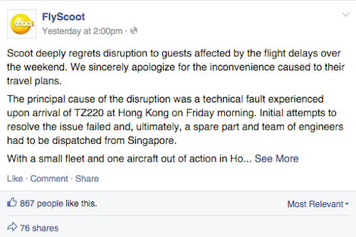 Scoot Apology