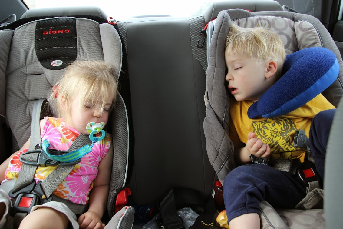The sooner you get through immigration, the sooner you can sleep in the car on the way home.