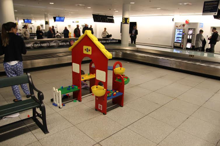 Baggage claim is always better than the immigration line, even though most don't have Lego.