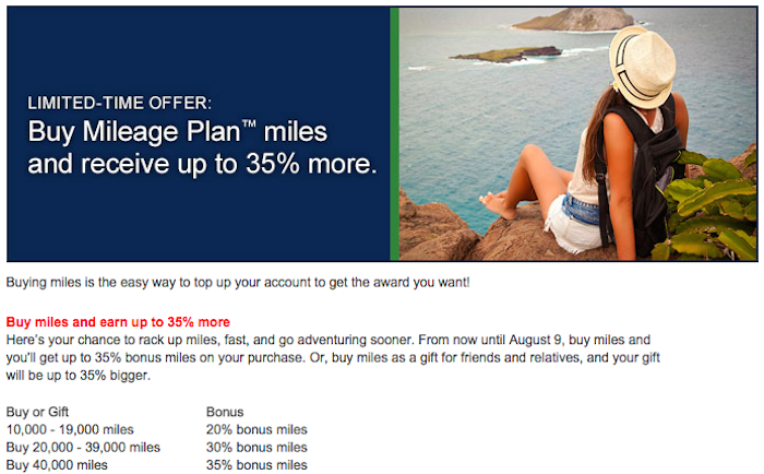 Alaska will sell you miles at a discount right now