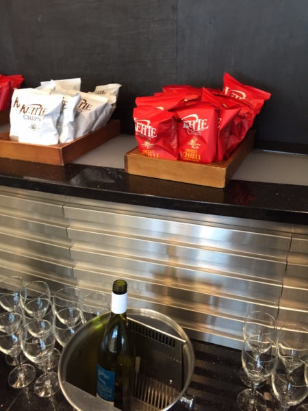 Wine and snacks selection