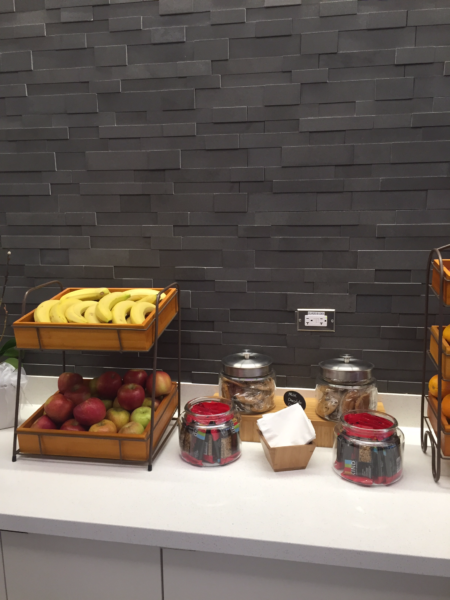 Delta ONE Lounge at LAX food display