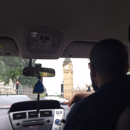 View from my Uber in London