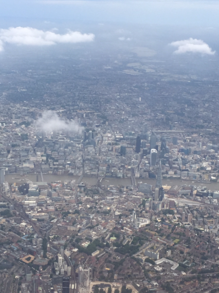 Smashing view of London from landing approach