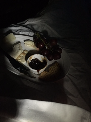 Cheese and crackers in bed!
