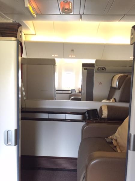 Garuda's first class cabin