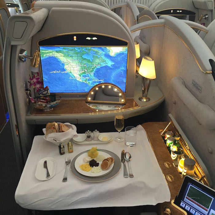 Comparing First & Business Cl On The Emirates A380 - One Mile ...