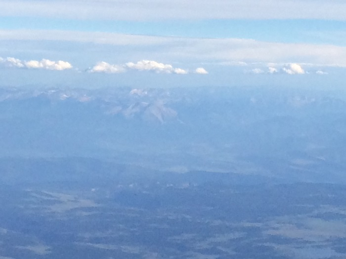 Mount Sneffles, a Colorado 14,000 foot peak, might be in the distance