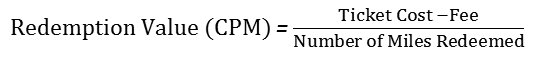 redemption equation with fee