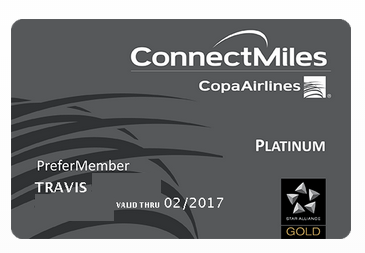 Gray Copa Platinum card