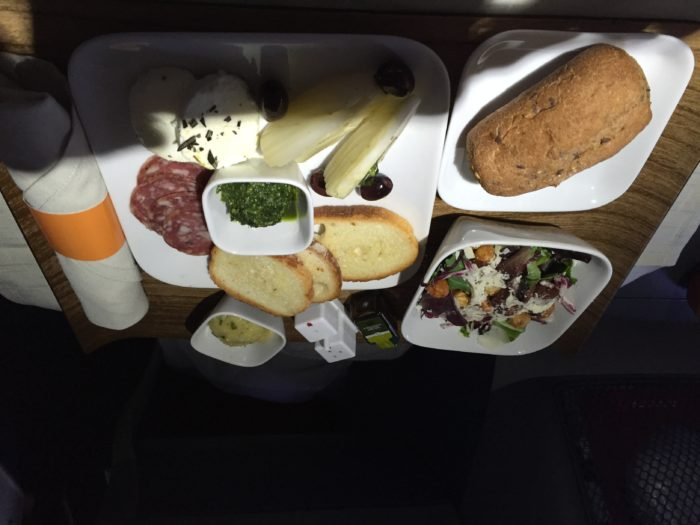 Delta One first course JFK-LAX