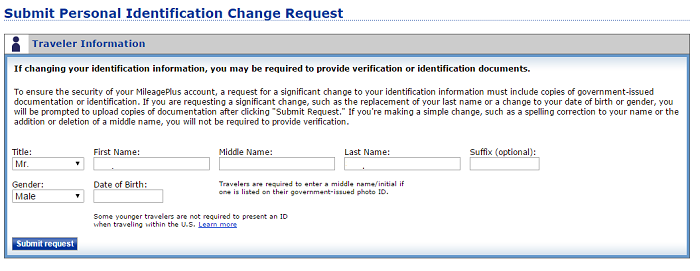Requesting a change to a birthdate seems like a pain