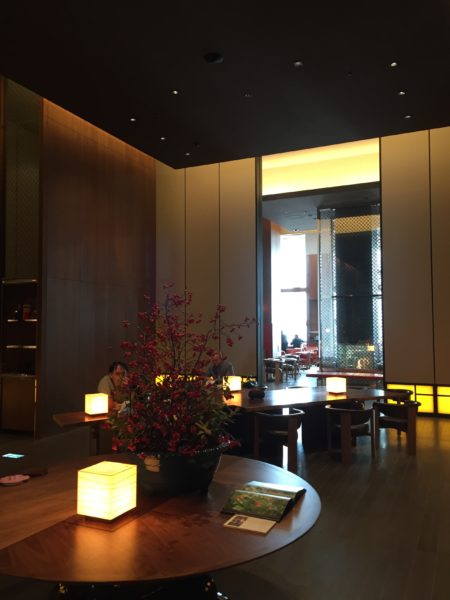 Andaz Tokyo lobby and check-in area