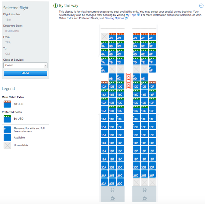 Us Airways Seatmap