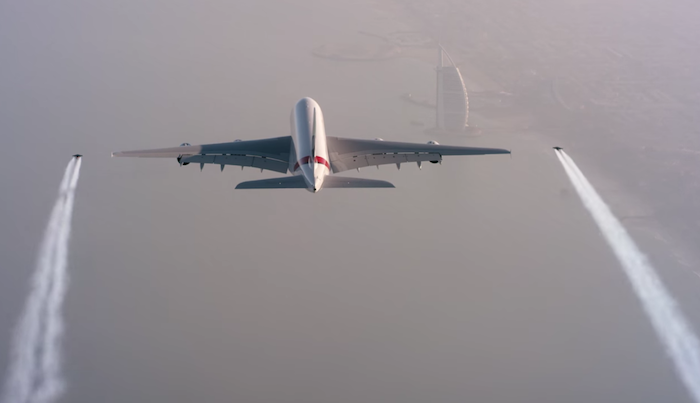 Emirates A380 Formation