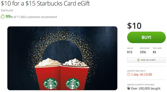 starbucks gift card balance