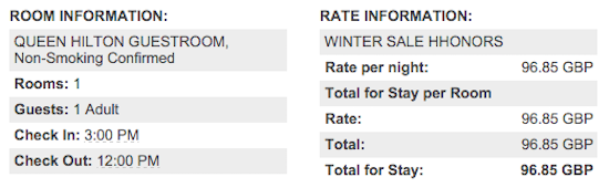 Hilton-Rate