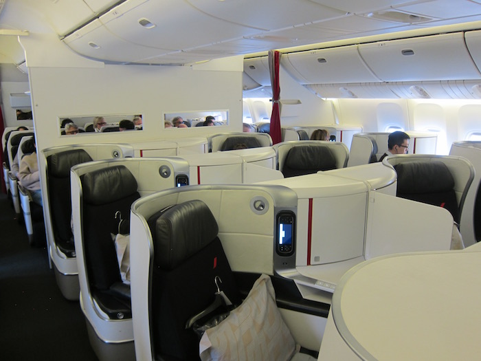 Air France's new business class cabin