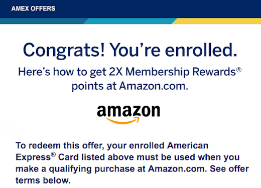 american express credit card offers amazon