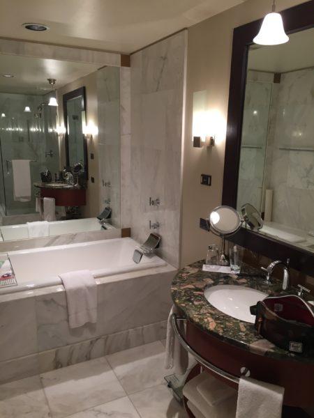 Luxurious bathrooms at the Grand Hyatt Seattle
