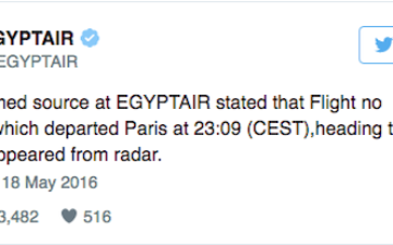 Egyptair Tweet