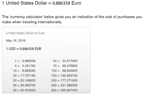 Logically You Should Be Able To Divide 1 By 0 886358 Get The Conversion Rate From Eur Usd Is 1282usd Per