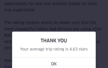 I'm Tempted To Start Micro-Managing My Uber Rating    | One Mile at