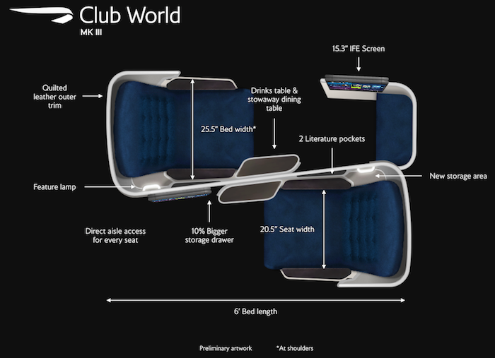 British Airways New A350 Business Class Seat One Mile