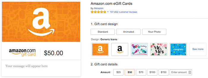 No Brainer: $10 Bonus On A $50 Amazon Gift Card - One Mile at a Time
