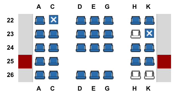 There were only two seats left next to each other!