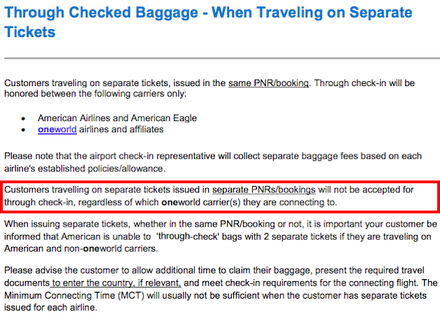 American Baggage Policy One Mile At A Time