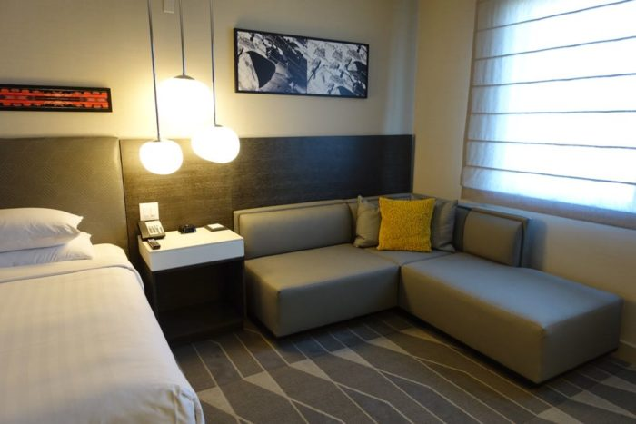 Renovated guestroom at the Concourse Hotel LAX