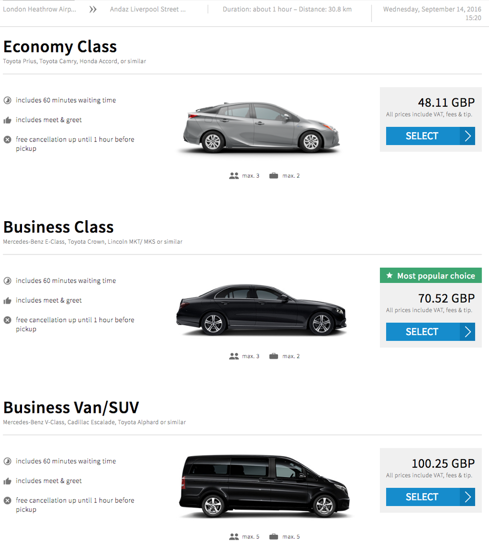 Uber Vehicle List >> Blacklane An Alternative To Uber Pricey Hotel Cars One Mile At