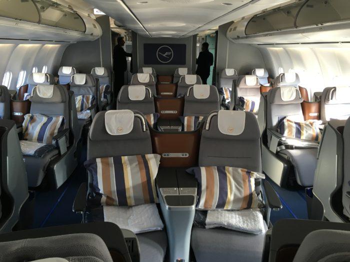 Lufthansa business class cabin 2