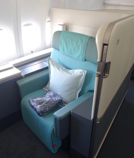 korean air 747 first class