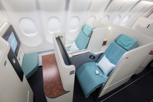which planes feature korean air 39 s new business class. Black Bedroom Furniture Sets. Home Design Ideas