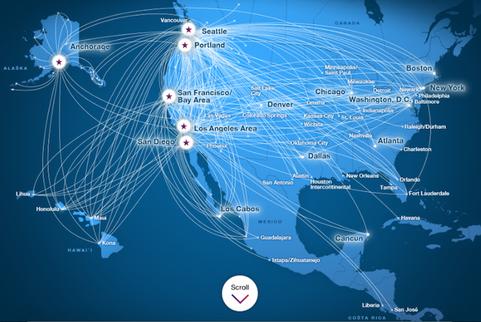 Delta International Route Map on
