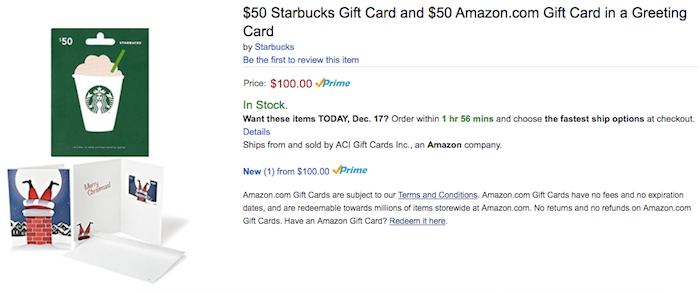 $10 Amazon Code When You Buy An Amazon & Starbucks Gift Card - One ...