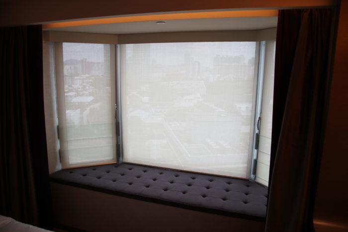 The comfortable windowsill at the Royal Plaza.