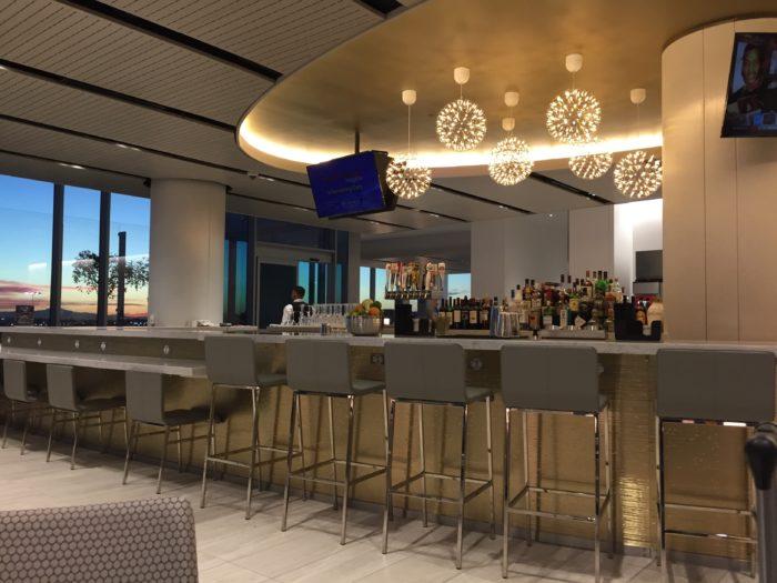 Bar area at United Club LAX