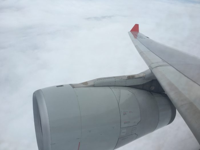 Shanghai Airlines A330 wing view 3