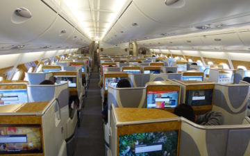 Emirates Business Class A380 26