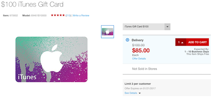 Deal On iTunes Gift Cards: 15% Off + 5x Points - One Mile at a Time