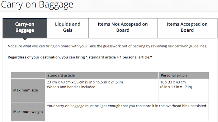 fd66df457803 Air Canada Sensibly Changes Their Carry-On Policy - One Mile at a Time