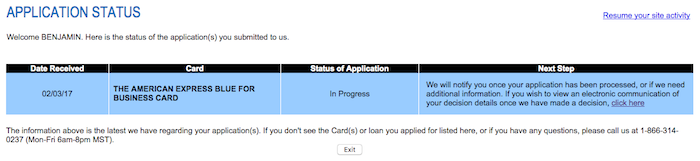 Success i got approved for a 5th amex credit card one mile at a time amex application status colourmoves