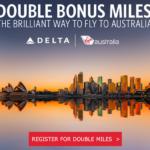 Delta Australia Double Miles